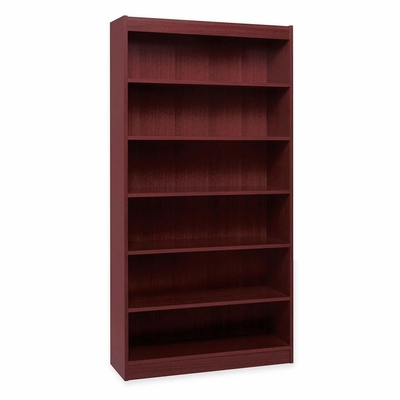 6 Shelf Panel Bookcase - Mahogany - LLR60074
