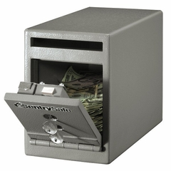 "6""W Under Counter Drop Slot Depository Safe - Sentry Safe - UC-025K"