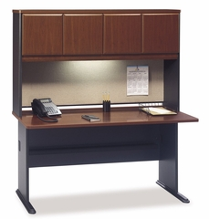 "60"" Desk and Hutch Set - Series A Hansen Cherry Collection - Bush Office Furniture - WC90460A-61"
