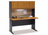 "60"" Desk and Hutch Set - Series A Natural Cherry Collection - Bush Office Furniture - WC57460-61"