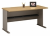 "60"" Desk - Series A Light Oak Collection - Bush Office Furniture - WC64360"