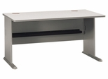 "60"" Desk - Series A Pewter Collection - Bush Office Furniture - WC14560"