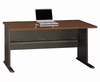 "60"" Desk - Series A Walnut Collection - Bush Office Furniture - WC25560"