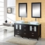 "60"" Espresso Double Sink Bathroom Vanity - Virtu USA Bathroom Vanities - MD-4305G"