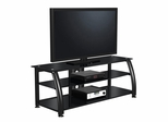 "60"" Flat Panel Plasma LCD HD TV Stand / Media Console Center in Glossy Black - TVS-6851400-2"