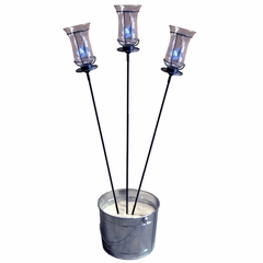 "60"" Garden Stake with Champagne Torch (Set of 3) - Pangaea Home and Garden Furniture - DS-C4458-SET3"
