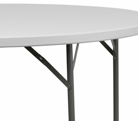 "60"" Granite White Round Plastic Folding Table - DAD-YCZ-154-GW-GG"