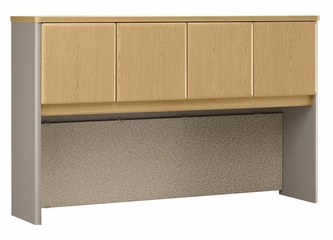 "60"" Hutch - Series A Light Oak Collection - Bush Office Furniture - WC64361"