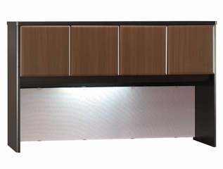 "60"" Hutch - Series A Walnut Collection - Bush Office Furniture - WC25561"