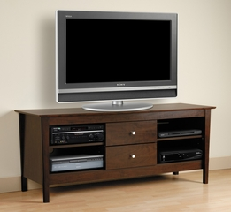 60 Inch Flat Panel LCD / Plasma TV Console in Espresso - Brooklyn - Prepac Furniture - EBP-2600
