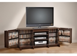 60 Inch Flat Panel LCD / Plasma TV Console with Multimedia Storage in Espresso - Marcello - Prepac Furniture - EPR-6001