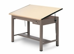 60 Inch Four Post Drafting Table - Mayline Office Furniture - 7736BSDBE