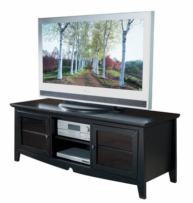 60 Inch TV Stand with Side Folding Construction in Black - Office Star - TV0860FBK