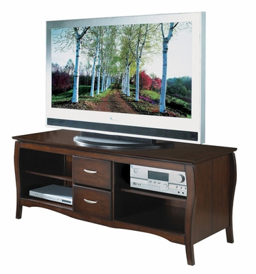 60 Inch TV Stand with Side Folding Construction in Walnut - Office Star - TV0660FWA