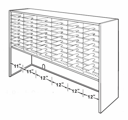 60 Pocket Elevated Sorter - Mayline Office Furniture - SC7248G-H