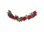 "60"" Poinsettia and Berry Garland - Nearly Natural - 4916"