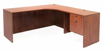 "66"" Corner Credenza ""L"" Shaped desk with 1 Box File Ped - ROF-LLDCR6624"