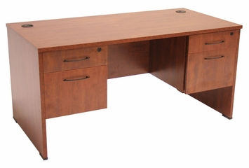 "66"" Desk with (2) BF Peds - ROF-SDP6630"