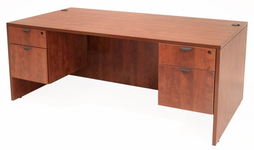 66 Inch Desk with Double Pedestals - Legacy Laminate - LDP6630