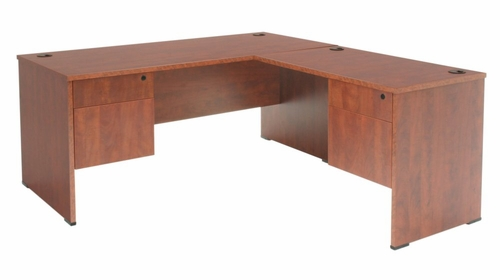 66 Inch L-Shaped Desk - Sandia Laminate - SLDP663042