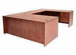 66 Inch U-Shaped Desk - Legacy Laminate - LUD6630