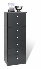 7 Drawer Lingerie Chest in Black - Prepac Furniture - BBD-2050-7