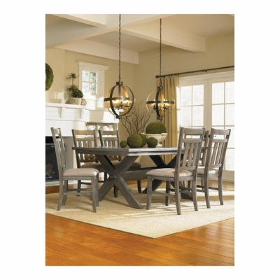 7 Pc. Turino Dining Set - Dining Table and 6 Side Chairs - Powell Furniture - POWELL-457-417M2