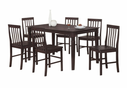 7-Piece Bentley Wood Dining Set in Espresso - C60B2ES