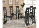 7-Piece Dining Room Furniture Set in Matte Silver / Black - Coaster - 101681-2-DSET