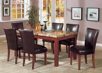 7-Piece Dining Set in Cherry / Brown - Coaster