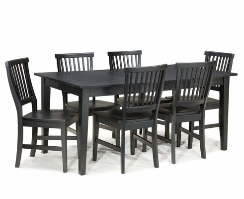 7- Piece Dining Set in Ebony - Arts and Crafts - 5181-319