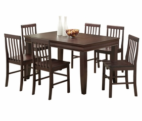 7-Piece Dining Set in Espresso - C60F2ES