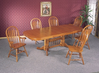 7-Piece Dining Set in Oak - Coaster