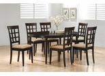 7-Piece Dining Set in Rich Cappuccino - Coaster