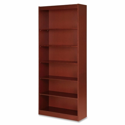 7 Shelf Panel Bookcase - Cherry - LLR89055