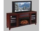 "70"" Shaker Style TV Console with 25"" Electric Fireplace - FT70SCFB"