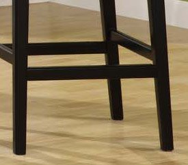 "7015 Martini 26"" Stationary Barstool in Creme Leather / Black - Armen Living - LC7015BACR26"