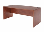 "71"" Bow Front Desk Shell - ROF-SDSBF7135"