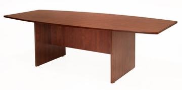 71 Inch Boat Shaped Conference Table - Sandia Laminate - SCTBS7135