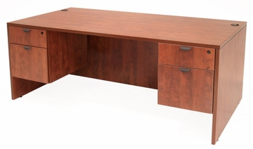 71 Inch Desk with Double Pedestals - Legacy Laminate - LDP7135