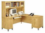 71 Inch L-Shaped Desk and Hutch - Bush Office Furniture - OFFPKG-36