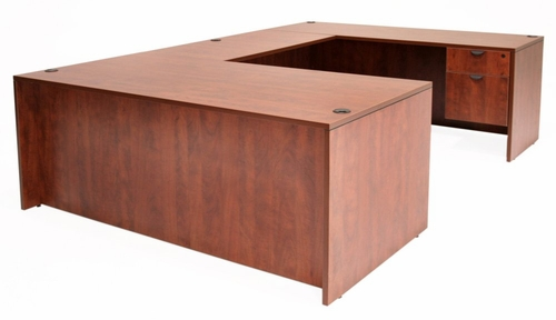 71 Inch U-Shaped Desk - Legacy Laminate - LUD7135