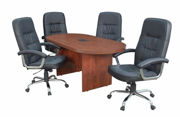 "71"" Legacy Conference Table with 4 Carrera 1040 Swivel Chairs - ROF-LCTRT71351040BK"