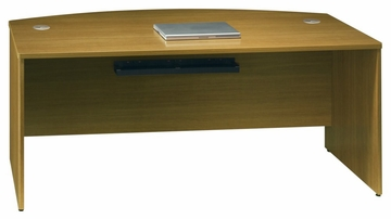 "72"" Bow Front Shell - Quantum Modern Cherry Collection - Bush Office Furniture - QT0725MC"