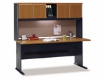 "72"" Desk and Hutch Set - Series A Natural Cherry Collection - Bush Office Furniture - WC57472-73"