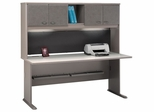 "72"" Desk and Hutch Set - Series A Pewter Collection - Bush Office Furniture - WC14572-73"