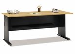"72"" Desk - Series A Beech Collection - Bush Office Furniture - WC14372"