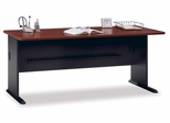 "72"" Desk - Series A Hansen Cherry Collection - Bush Office Furniture - WC94472"