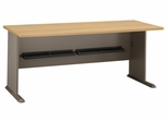 "72"" Desk - Series A Light Oak Collection - Bush Office Furniture - WC64372"
