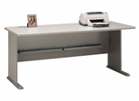 "72"" Desk - Series A Pewter Collection - Bush Office Furniture - WC14572"